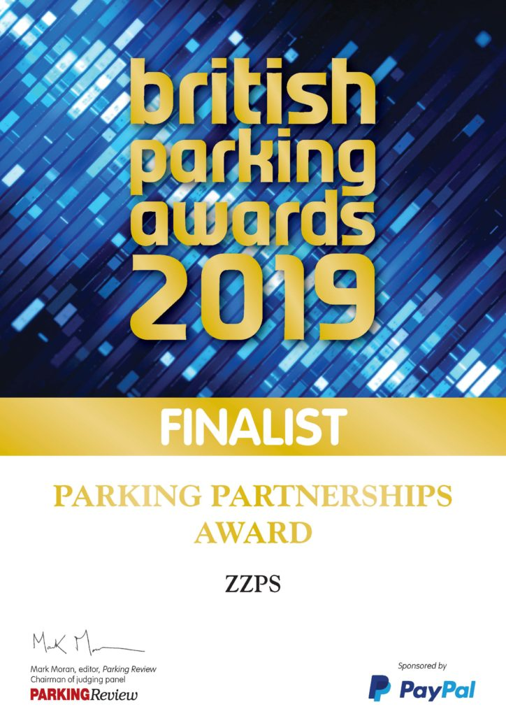 Finalist, British Parking Awards 2019, Parking Partnerships Award