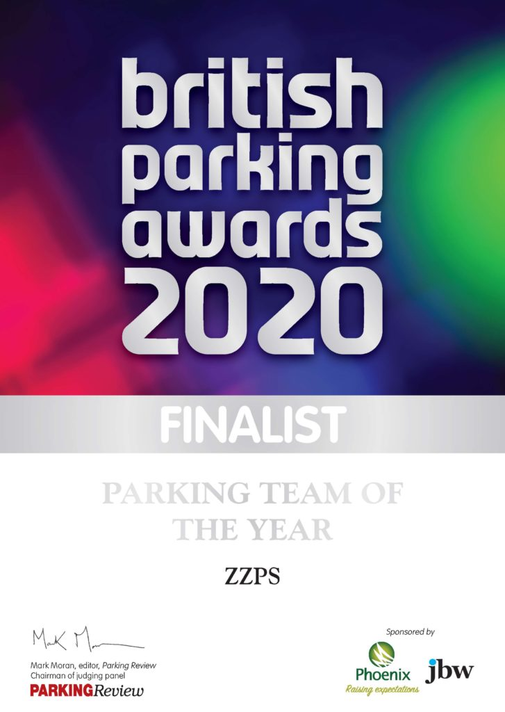 Finalist, British Parking Awards 2020, Parking Team of the Year