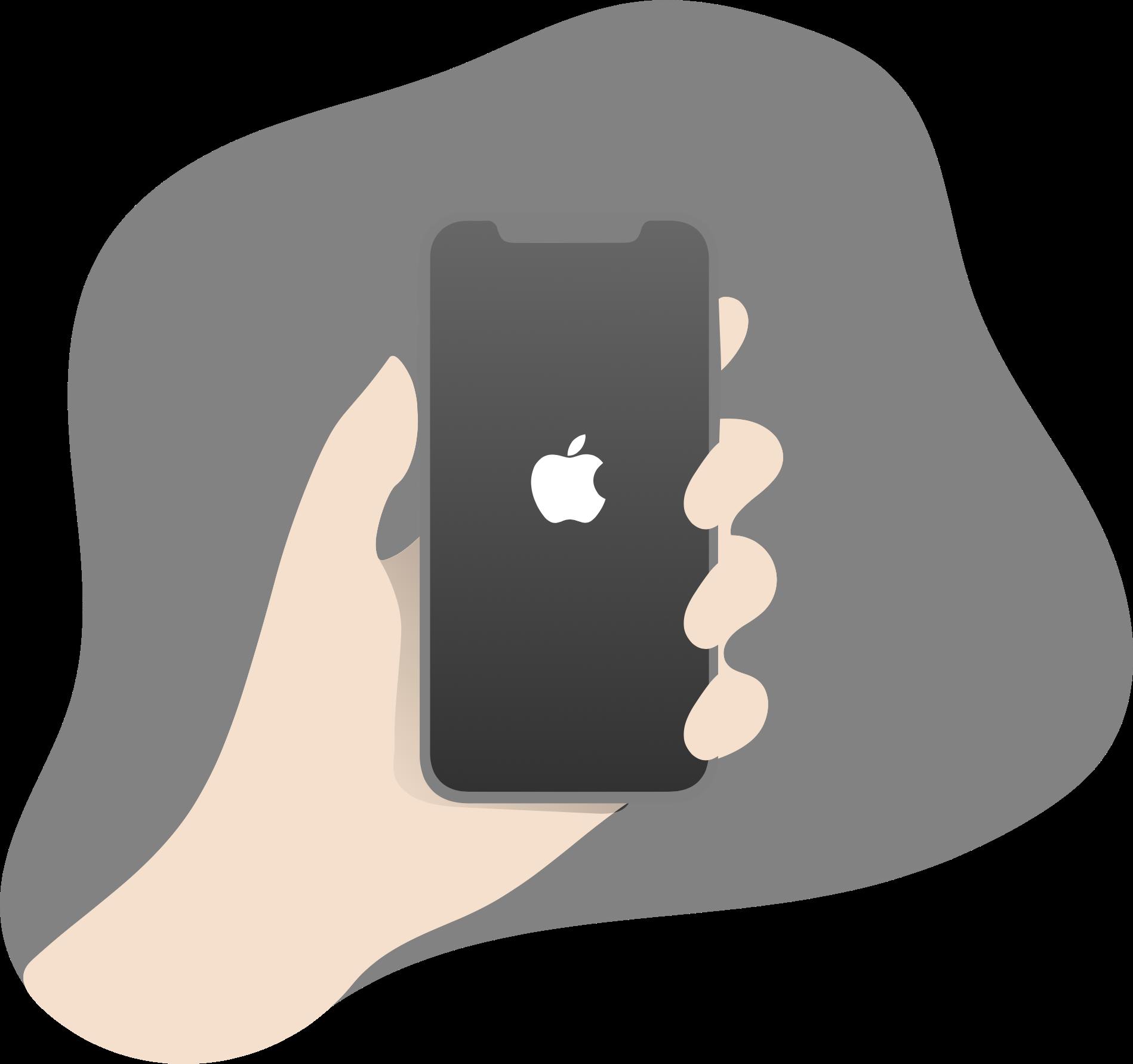 Gray iPhone illustration