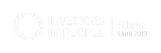 White Investors in people Silver Until 2019 logo